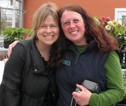 Annie Reiss of Skagit Gardens with BFG Plant Buyer Vanessa O'Donnell